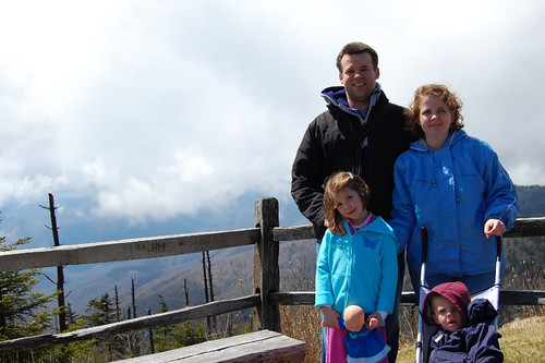 The Family at Clingman's Dome Trailhead