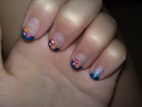 stickers on nails.