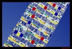chequered (sediama (break)) Tags: blue building germany office colours pentax colourful düsseldorf büro gebäude bunt farben medienhafen chequered williamalsop colorium sediama pentaxk20d patternmuster igp2921 ©bysediamaallrightsreserved