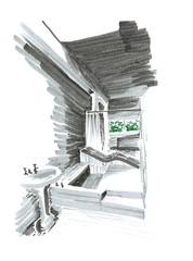 Ville Savoye IV (pinti pinti) Tags: house architecture sketch casa arquitectura le villa marker savoie dibujo savoye markers ville corbusier corbu rotu rotulador jeanneret saboya apunte