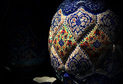 Enamel - Isfahan grand bazaar (Hossein Ghodsi) Tags: blue red orange yellow shop canon handicraft iran vessel copper iranian bazaar  esfahan isfahan enamel  enamelware esfehan isfehan  grandbazar  baazaar   minakari  coppervessel  enamelwareshop enamelledcoppervessel isfahangrandbazar  honardasti