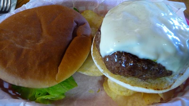 Green chile burger at Bobcat Bite