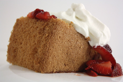 Chiffon Cake with Balsamic Strawberries