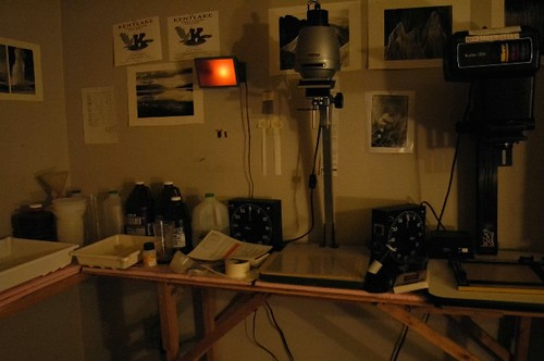 My Darkroom: the enlargers and film processing area
