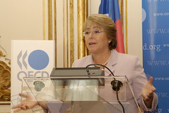 Chilean President Michelle Bachelet at the OECD