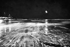 Solo un sogno (Effe.Effe) Tags: sea blackandwhite bw moon beach night blackwhite mare waves riva shoreline luna bn spiaggia notte bianconero senigallia biancoenero onde primotentativomalriuscitodilungaesposizionescusaandrealetueparolemeritavanodipiù unadedicastupenda
