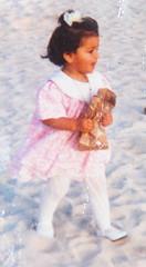 Baby Shay 3ady ~ (SH.3 - June <3 !) Tags: old pink portrait baby 6 white beach june self happy gold sand day united birth uae 11 emirates arab shay six eleven sharjah 1990 shj 3ady elevn