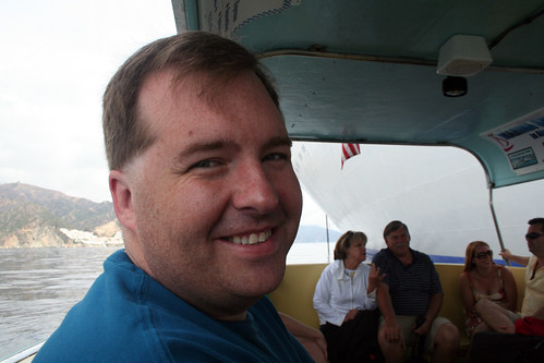 Carnival Elation - Mike on the Tender to Catalina