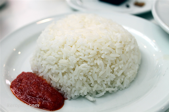 Rice with sambal