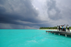 Welcome to Rainy Seasons (muha...) Tags: travel sea summer people water beautiful danger island democracy workers nikon iran cloudy jetty visit rainy greetings maldives kandu globalwarming muha vilu 100places nikond80 mustvisit vissaara