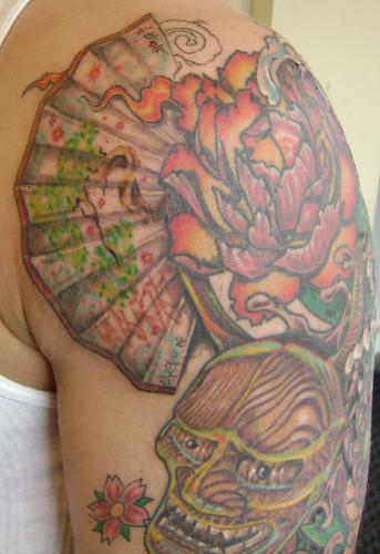 japanese fan tattoo. japanese fan bonsai