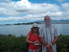 Pearl Harbor - memorial in background