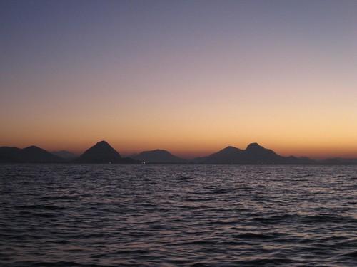 Rio approach sunrise