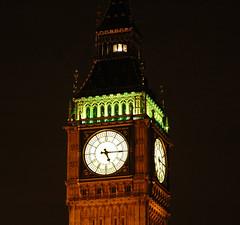 Big Ben clock tower (stevesheriw) Tags: england london clock westminster night europe parliament bigben clocktower unesco worldheritagesite palaceofwestminster 2006stevenmwagner