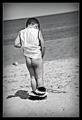 Gone with the wind...lol (Flicasso) Tags: boy blackandwhite cute male ass blackwhite kid nikon child connecticut butt adorable ct pissing peeing stratford 18200mm babybutt d80 stratfordct nikond80 stratfordbeach