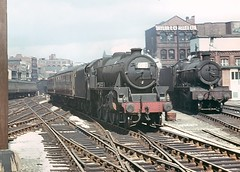 Class 5MT no.44691. Birmingham (Snow Hill). 9 June 1965 (ricsrailpics) Tags: uk colour birmingham steam 1965 460 snowhillstation class5mt exlms