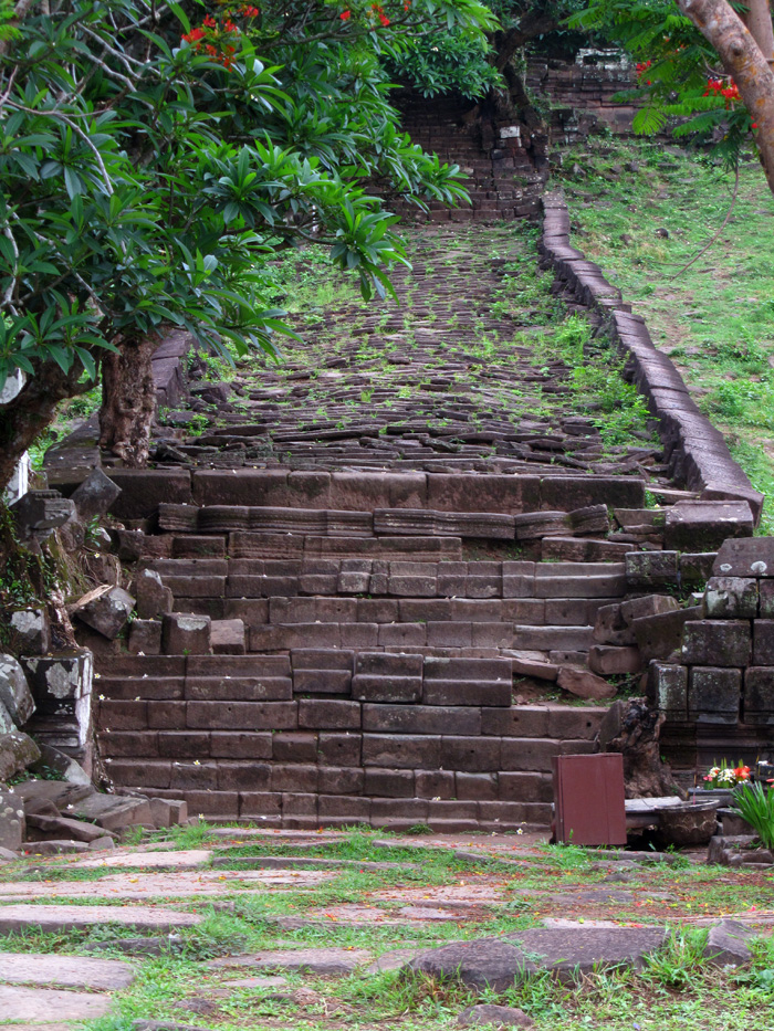 Staircase at Wat Phou, Laos