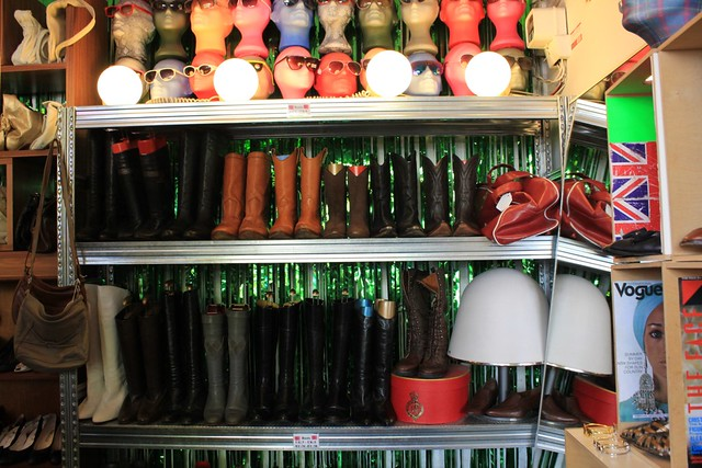 great collection of boots at Berty and Gerty vintage