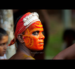 Retrospection (Ajith ()) Tags: india face artist candid kerala dancer godsowncountry theyyam ritualart colouredface