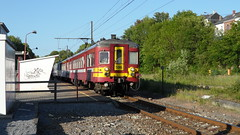 AM 596 - L43 - MARCHE-EN-FAMENNE (philreg2011) Tags: train trein sabena marcheenfamenne nmbs sncb l43 l5568 am596 amclassique l5550