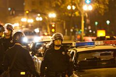 Police, Oakland Riots-4 (Thomas Hawk) Tags: california usa america oakland riot unitedstates unitedstatesofamerica protest bart police eastbay riots downtownoakland oaklandpd oaklandpolice bartpolice oscargrant oaklandriot oaklandriot2009 oaklandriots2009 oscargrantriots oaklandriots