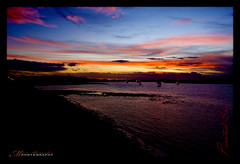 Painted Sky (marc.alexander) Tags: longexposure sunset sky water clouds canon river newcastle boats long exposure dusk painted signature australia frame nsw coalriver 40d marcalexander canon40d marcalexanderphotography