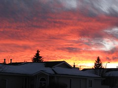 Winter Sunset Beauty (Calgarian) Tags: winter sunset red sky orange clouds chinook bluribbonwinner