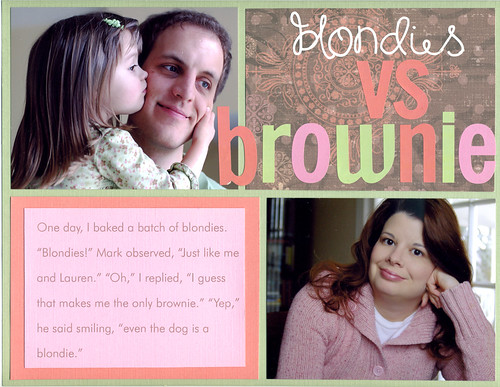 Blondies vs Brownie.