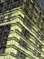 scaffolding (vin dog) Tags: windows abstract building lines losangeles construction geometry hollywood scaffold toomany anglesanglesangles cityofhollywood