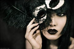 Behind the Mask (zemotion) Tags: black asian mask lips zhang alli jiang zemotion jingna