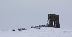 Dunnydeer (scrumsrus) Tags: winter white snow cold castle nature wall rural landscape scotland countryside frost arch aberdeenshire hill ruin environment isolation agriculture journalistic insch hillfort dunnydeer scrumsrus andystuart