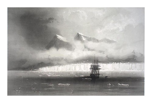 011-Anclaje de La Recherche cerca de la montaña Isbre- Spitsbergen 1838