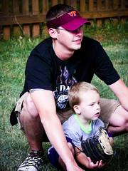 Mitch & Ty (Kathy Froilan) Tags: summer portrait picnic child baseball catcher teach baseballglove dadandson flickrchallengegroup klanepresets