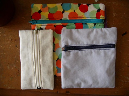 front loading zipper pouches!