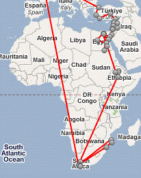 MidEast & Africa path map