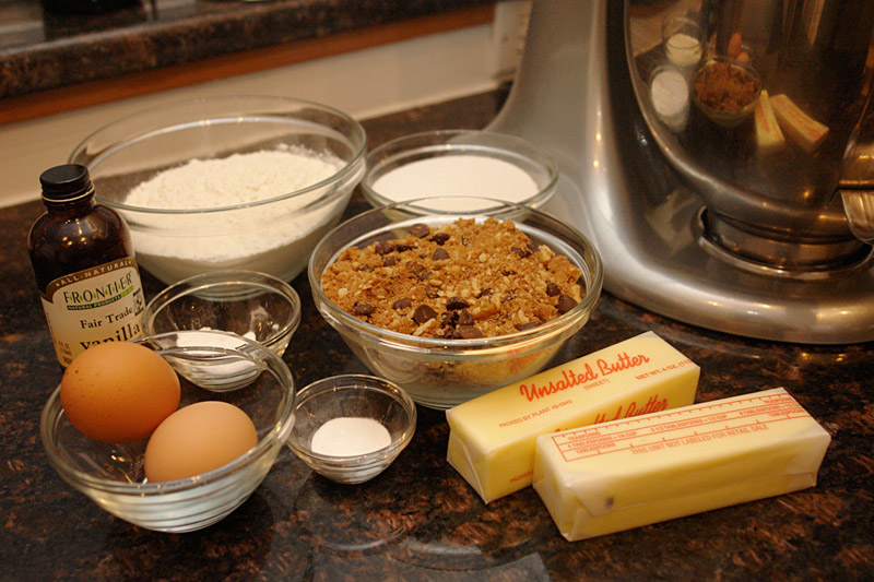 coffee cake: the ingredients