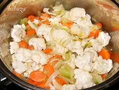 Crema coliflor-sofreir verduras