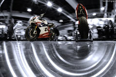 rotary club (Toni_V) Tags: longexposure motion blur bike movement fisheye motorcycle sportbike ducati 2009 d300 fmp 105mm colorkey swissmoto selectivecolors toniv abigfave diamondclassphotographer messezrich fisheyemotorcyclephotography