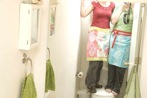crafting: making aprons