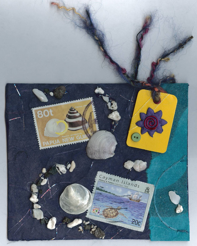 Chunky Book Page - Ocean Theme with Shells and Rocks