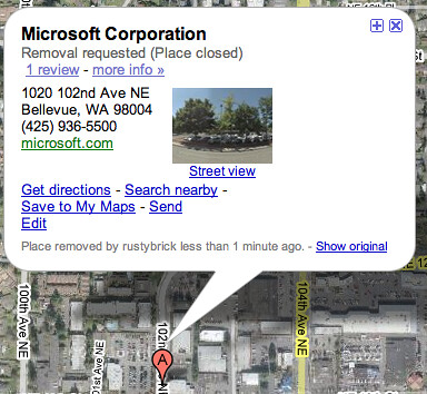 Closing Microsoft on Google Maps