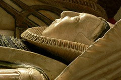 Detail alabaster tomb, St. Giles, Chesterton
