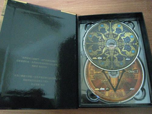 典藏版盒內的遊戲安裝光碟