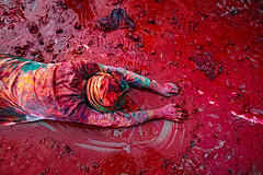 Faith ( Poras Chaudhary) Tags: red india man colors nikon faith documentary holi d3