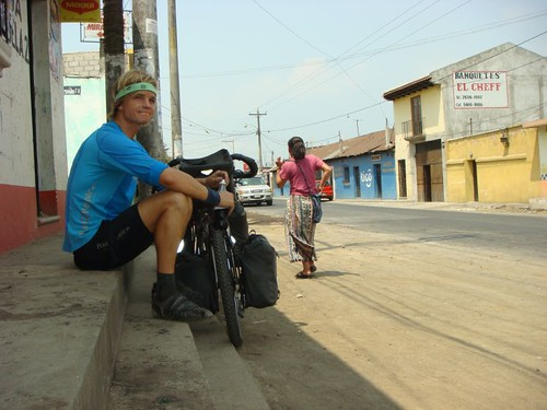 Drink stop in Ciudad Vieja, outside of Antigua.