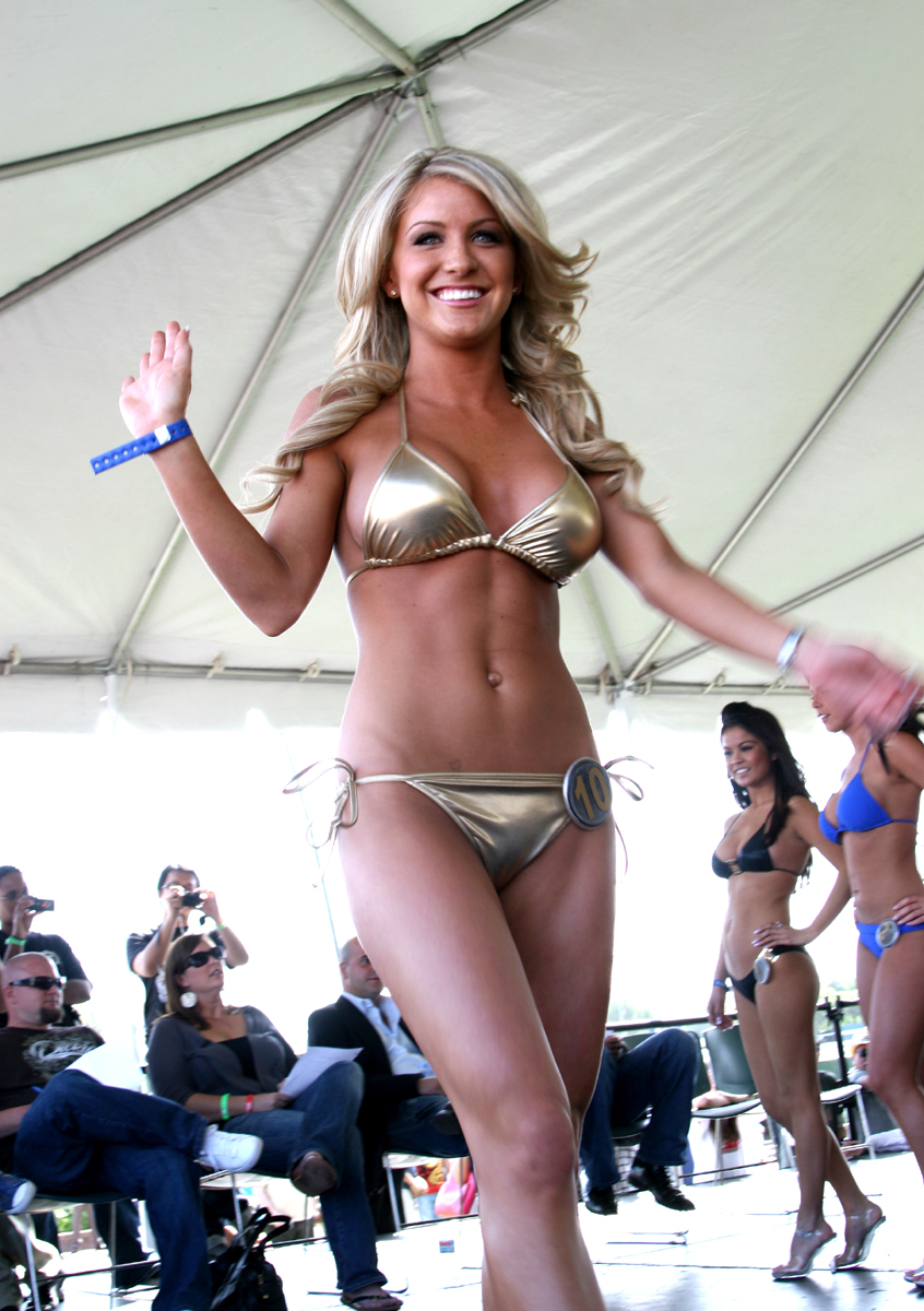Hawaiian Tropic Models At Santa Anita Race Track