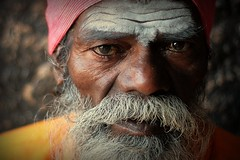 Baba. India (fredcan) Tags: travel portrait india man face closeup beard indian oldman moustache karnataka hindu baba sadhu hampi southindia vijayanagar southasia