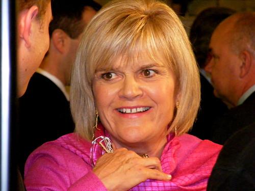Finance Minister Iris Evans