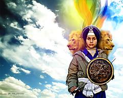 Singh is King (ankilien) Tags: boy india art composite tiger lion pride lions sword strength sikh punjab sikhism honour khalsa baisakhi visakhi wallpape vasakhi