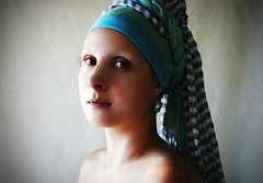 testing.... (Patikova) Tags: light portrait girl photoshop self painting vermeer girlwithapearlearring pearlearring